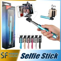 Cheap For iphone 6 Metal Selfie Self-portrait Monopod Extendable Selfie Stick with built-in Bluetooth Remote Shutter and Adjustable Grip Holder