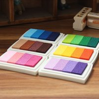Wholesale New Color Inkpad Ink stamp pad Colorful Cartoon Craft Inkpad set for DIY funny work Fingerprint Scrapbooking Accessories