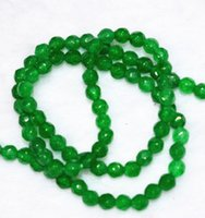aa emerald - new mm Faceted green emerald Round Gems Loose Beads quot AA