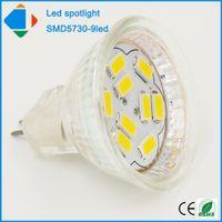 Wholesale 5 mini W led spotlight mr11 smd5730 leds glass shell crystal dc v spot light lenergy saving