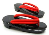 geta - Cosplay Shoes Women s Mirror Like Shinning Black Low Heel Classic Japan Geta Casual Summer Slippers Sandals Flip Flops