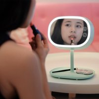 Wholesale LED Lamp Makeup Mirror in Design Multifunction Cosmetic Lighted Vanity with Table Lamp Storage Tray Colors
