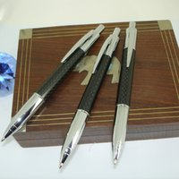 ballpoint pen suppliers - Classic Ball Pens Jumbo style refill Click Carbon Fiber Ballpoint Pen for Father s Day Gifts Pen Pencil and Writing Suppliers