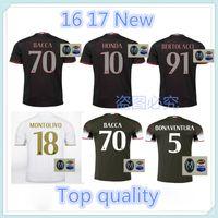 Wholesale Top Quality AC Milan jerseys patch home away BACCA KAKA MONTOLIVO BONAVENTURA HONDA Jersey
