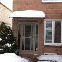 Wholesale DS100200 P x200cm Home Window Balcony Window Door Canopie Engineering Plastic Bracket With Polycarbonate Sheet Polycarbonate Door Awnings