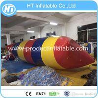 Wholesale m inflatable blob pack inflatable water catapult blob aqua air blob jump water blob jump jumping pillow water air bag