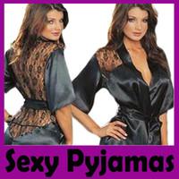 Wholesale Sexy Underwear Sexy Pyjamas lingerie sexy ingerie satin robes sex clothes plus size lingerie satin robe sexy nightwear babydoll lingerie