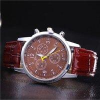 auto resin - 2016 Unisex Geneva Leather PU Quartz Watches Fashion mens Women luxury watches Brand Numerals Casual dress wrist watches
