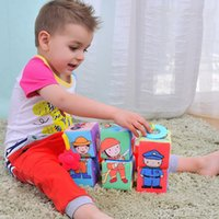 activity block toy - Baby Cloth Book Colorful Picture Puzzle Blocks Intelligence Education Learning Toy Stacking Blocks Activity Accessories VE0091