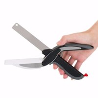 aluminum alloy cutting - 2 in Kitchen Smart Scissors Knife Set With Mini Cutting Board Clever Cutter