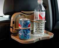 Wholesale Cars with folding back seat tray table plate shelf vehicle mounted water beverage holder drinks