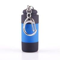 best usb keychain - Best Portable LED Flashlight Keychain Sports Mini Torch USB LED Light Creative Flashlight Lamp Key Chain Colors Available Rotate Switch