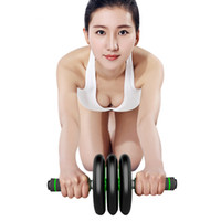 Wholesale Sports Abdominal Round Fitness Equipment Home Indoor Loudspeaker Mute Power Roller For Body Building Weight Reducing Exercise Double Wheel