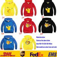 Wholesale 2016 Children Baby Poke Pikachu Hoodies Spring Autumn Boys Girls Long Sleeve Cartoon Character Sweatshirts Kids Clothing Clothes GD H14