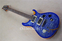 Wholesale custom mahogany body Maple veneer transparent blue clouds can change the electric guitar required by the buyers