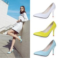 Wholesale Tangle Young Ladies Women s Bridal Wedding Party High Heel Platform Pump Shoes Platform sneaker candy color fashion trendy