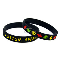 autism awareness bracelets silicone - 50PCS Autism Awareness Silicone Bracelet Wear This Latex Free Multicolours Wristband To Support The One You Love
