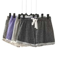 Wholesale XLJ59 Fashion Summer Women Elastic Waist Tunic Drawstring Elegant Beach Sport Pocket Cuffs Casual Brand Shorts