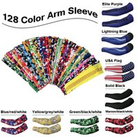 Wholesale 128 color new customized Camo Compression Sports Arm Sleeves cycling arm sleeve