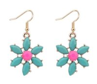 best contract - Europe and the United States viole contracted summer small flower earrings charm unique style earrings zinc alloy earrings best gi