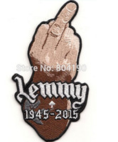 aces music - 5 quot LEMMY Kilmister FINGER Patch Tribute Motorhead ace of spades Music Band Embroidered sew IRON On APPLIQUE Rock Punk Badge