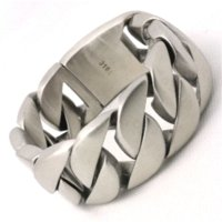amazing foods - 333g Fashion Top Quality Dull Polish Bracelet L Stainless Steel Punk Amazing Design Cool Popular Gift Biker Bracelet