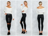 Wholesale New Hot Fashion Style Autumn And Winter Long Sleeve Sweater Coat Overlapping V Neck Bottoming Sweaters