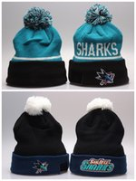 bamboo san jose - San Jose Sharks Hockey Beanies Team Hat Winter Caps Popular Beanie Caps Skull Caps Best Quality Blue Sports Caps