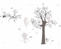 baby koala bear - MM122103 Different Cute Koala Bear And Tree Wall Stickers Koala pulled Balloon Vinyl Decals Baby Bedroom Wall Art Drcor