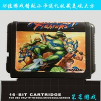 Wholesale Gaming Accessories Video Game Consoles Sega games card Teenage Mutant Hero Turtles Tournament Fighters For bit Sega MegaDrive Genesis