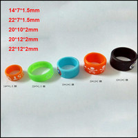 Wholesale Cheapest Vape Mods - Cheap Vape Band Silicone Rings Multi size for all kind of Electronic Cigarettes Atomizer mechanics Mods