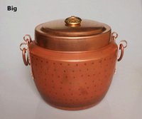 Wholesale Pure Copper Pot Stew Retro Cooking Pot Hamdemade Craft Deep Thick Handle with Lid