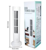 Wholesale Novelty Desk USB Cooling Fan Air Purifier Mini Air Conditioner Tower Shape USB Mini Bladeless Fan H050