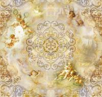 angels heat - 3d wallpaper custom photo non woven mural wall sticker d Little angel European ceiling mural painting d wall room murals wallpaper