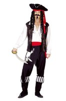 adult men pirate costume - Cosplay Men s Halloween Party Pirate Costumes Pirates Of The Caribbean Devil Halloween Costume Adults Fancy Dress
