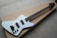 Wholesale New guitar factory GB Thunderbird strings electric bass in white color electric bass with EMG pick up