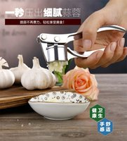 Wholesale A42 manual pressure the garlic peeling the garlic mashed garlic zinc alloy stainless steel kitchen multi function