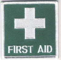 aids badge - Medical Green First Aid Badge Costume Embroidered iron on sew On patch Tshirt TRANSFER MOTIF APPLIQUE mm x mm