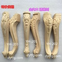 antique sofa tables - Dongyang wood carving antique sofa leg applique wood tea table cabinet leg foot
