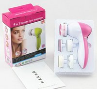 Wholesale 5 in Facial Skin Care and Body Vibrating Massager Electronic Beauty Facial Cleanner