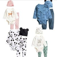 baby pants climb - 2016 Baby Clothes Cute Spring Autumn New Arrivals Baby Climb Clothes Three Piece jumpsuits pants hat M M FREE DHL