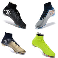 band beige - New OrigINal mens BHM MaGIsta Soccer shoes High Ankle football Boots HERITAGE SuPERfly IV VI CR FG MerCURial CR7 cleats shoes HypeRVEnom
