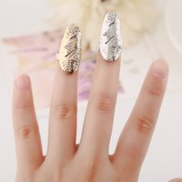 acrylic flowers for nails - Fashion Rhinestone cross lightning flower Crystal Fingernail rings Punk Design Rings for Girl European and American Style Nail Art Rings
