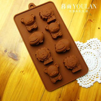animal bear cakes - Animal Shape Baking Mold Cute Lions Bears Ice Cube Tray Diy Chocolate Mold Silicone Cake Mold Styling Cooking Tools Grids