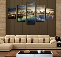 beauty scenes - The Beauty Of The City Night Scene Panels Large HD Top rated Canvas Print Painting for Living Room Wall Art Picture Gift