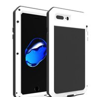 aluminum heavy metal - For iPhone Case Waterproof Snowproof Shockproof Cases Hybrid Metal Aluminum Heavy Duty Defender Cover for iPhone7 s s plus