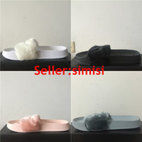 sewing box - Send With Original Boxes Leadcat Fenty Rihanna Shoes Women Slippers Indoor Sandals Girls Fashion Scuffs Pink Black White Grey Slide