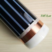 Wholesale 5m2 Electric floor heating electric infrared film temperature low electrical carbon heating film warm floor mat