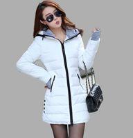 Wholesale High Quality Wadded Clothing Female New Women s Winter Jacket Down Cotton Jacket Slim Parkas Ladies Coats Plus Size Mens Girl XS XXL