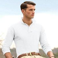 Wholesale Clothing Men fashion long Sleeve POLO shirts for men s knit Cotton shirts casual crocodile shirts